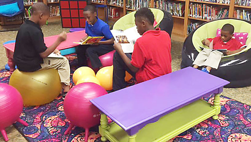 'Flexible Seating' helping students to learn comfortably