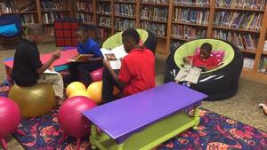 Blytheville Elementary School Students Relax while Reading